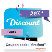 Fonts  - Discount on First Order