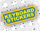 Keyboard Stickers for Modular Keyboard Layout