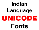Indian Language Unicode Fonts